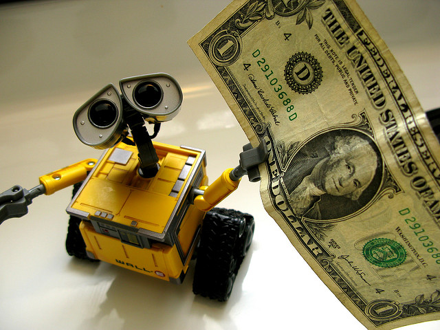 Your investment robot offers you money