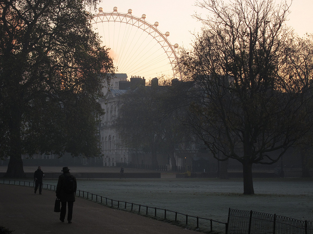 St James's Park - Dawn mist and frost