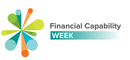 Financial Capability Week logo. It's abstract, like an exploding star.