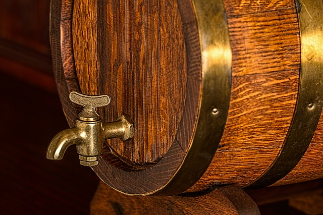beer barrel with tap switched off