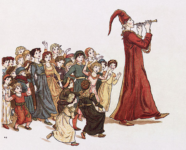 pied piper followed by children